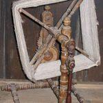 Die komplette Drehhaspel mit dem Zählwerk im Hintergrund, Bild aus Wikipedia